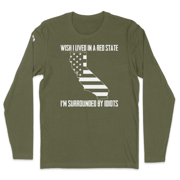 Wish I Lived In A Red State - California Mens Apparel