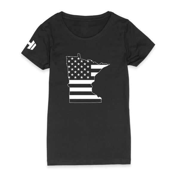 Minnesota USA Flag Womens Apparel