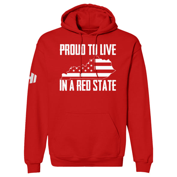 Proud To Live In A Red State - Kentucky Hoodie