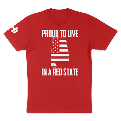 Proud To Live In A Red State - Alabama Mens Apparel