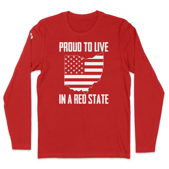 Proud To Live In A Red State - Ohio Mens Apparel