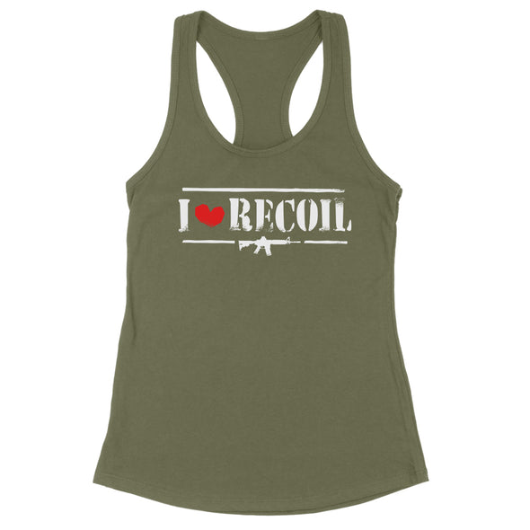 I Love Recoil Womens Apparel