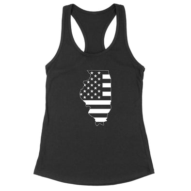 Illinois USA Flag Womens Apparel