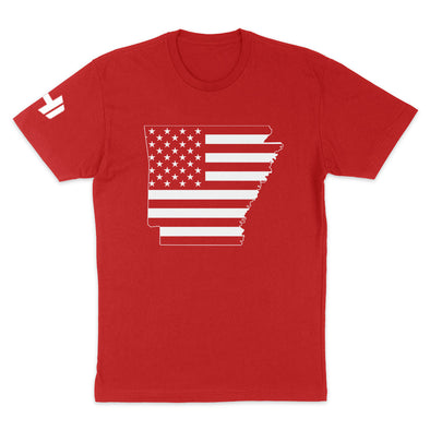 Arkansas USA Flag Mens Apparel