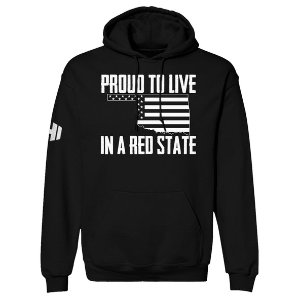 Proud To Live In A Red State - Oklahoma Hoodie