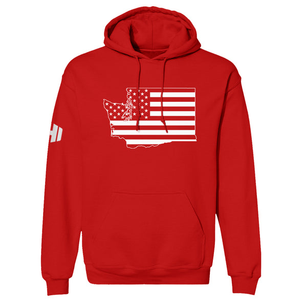 Washington USA Flag Hoodie