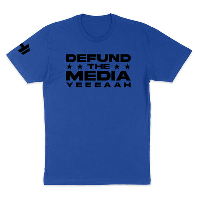 Defund The Media YEEEAAH Black Print Mens Apparel