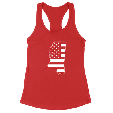 Mississippi USA Flag Womens Apparel