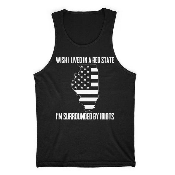 Wish I Lived In A Red State - Illinois Mens Apparel
