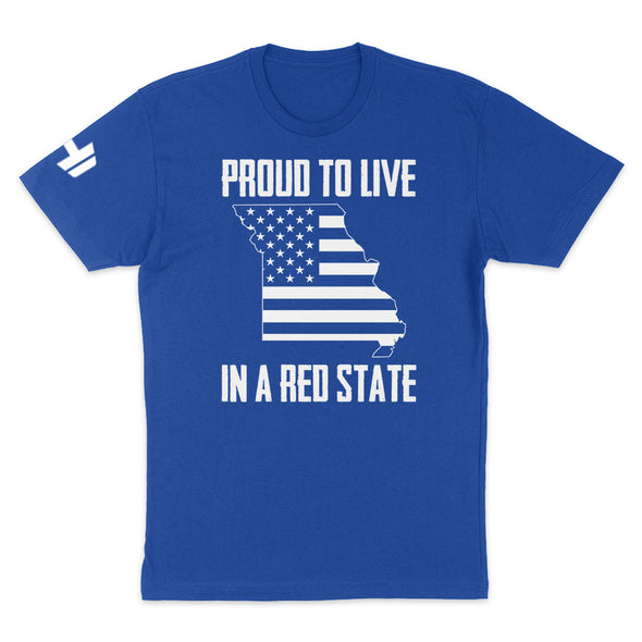 Proud To Live In A Red State - Missouri Mens Apparel