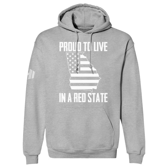 Proud To Live In A Red State - Georgia Hoodie