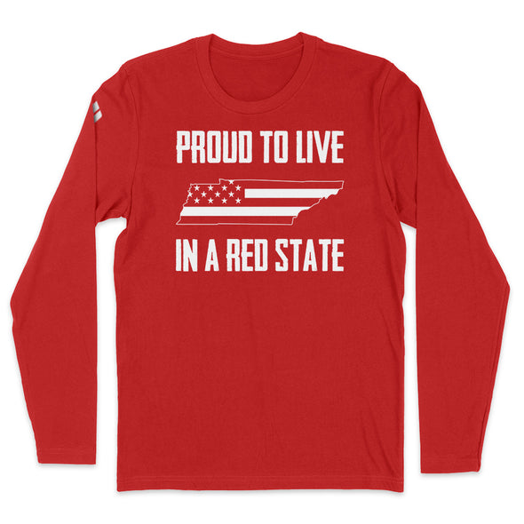 Proud To Live In A Red State - Tennessee Mens Apparel