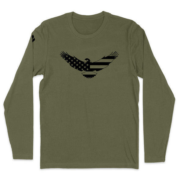 USA Flag Eagle Black Print Mens Apparel