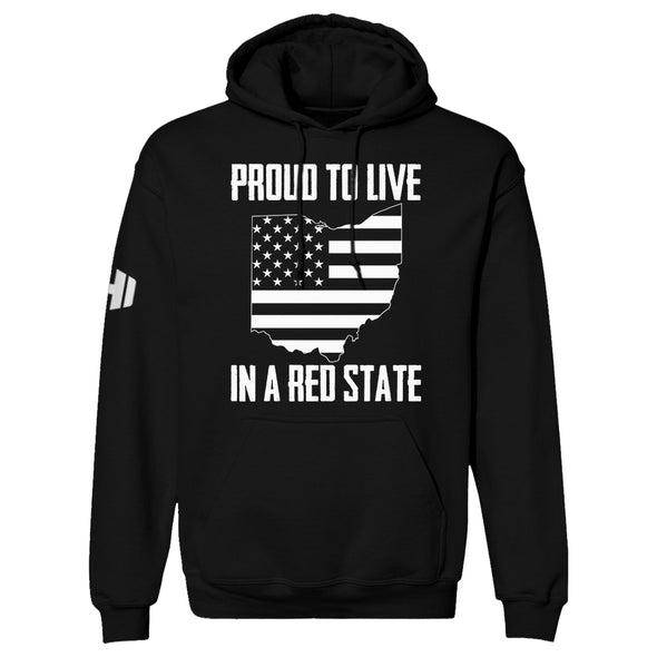 Proud To Live In A Red State - Ohio Hoodie