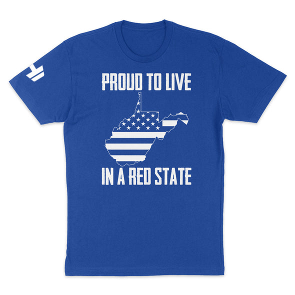 Proud To Live In A Red State - West Virginia Mens Apparel