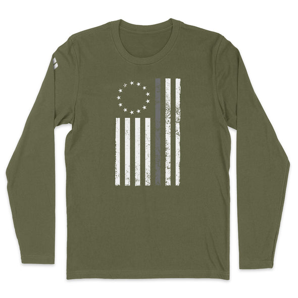 Betsy Ross Distressed Thin Silver Line Mens Apparel