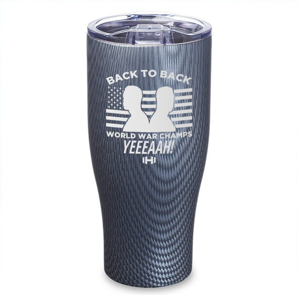 Back To Back Champs Etched Tumbler