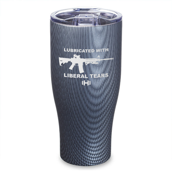 Lubricated With Liberal Tears Laser Etched Tumbler