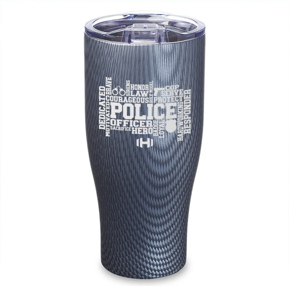 Police Word Cloud Laser Etched Tumbler