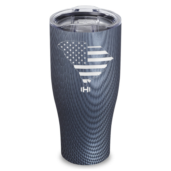 South Carolina USA Flag Laser Etched Tumbler