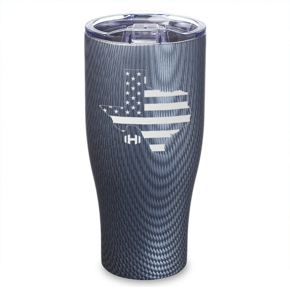 Texas USA Flag Laser Etched Tumbler