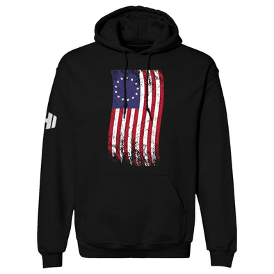 Betsy Ross War Color Flag Hoodie
