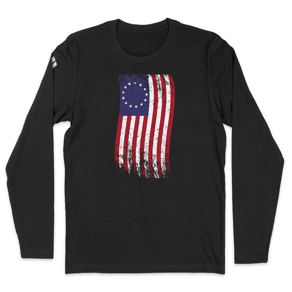 Betsy Ross War Color Flag Mens Apparel