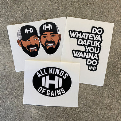 Hodgetwins Throwback Sticker Pack - 3 Stickers