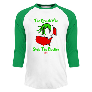 The Grinch Who Stole The Election Christmas Raglan