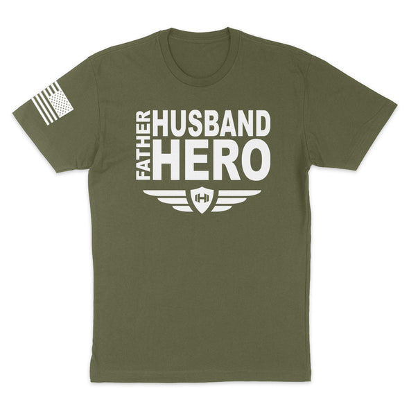 Father Husband Hero Mens Apparel