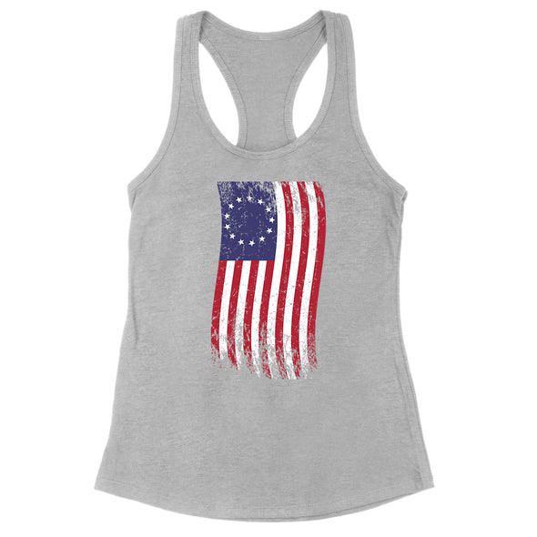 Betsy Ross War Color Flag Womens Apparel