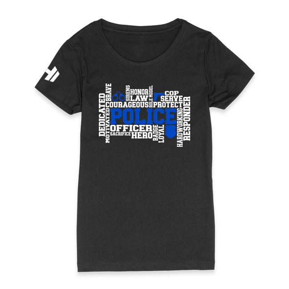 Police Word Cloud Womens Apparel