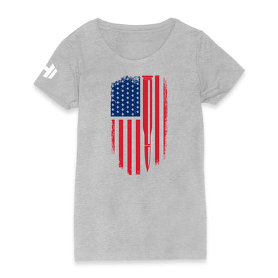 Bullet American Flag Color Womens Apparel