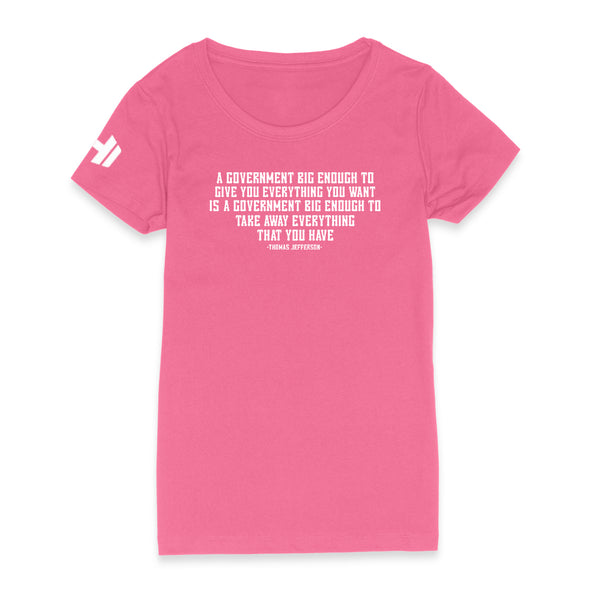 A Government Big Enough Womens Apparel