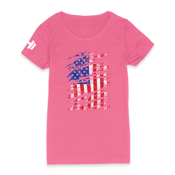 USA Flag Color Womens Apparel