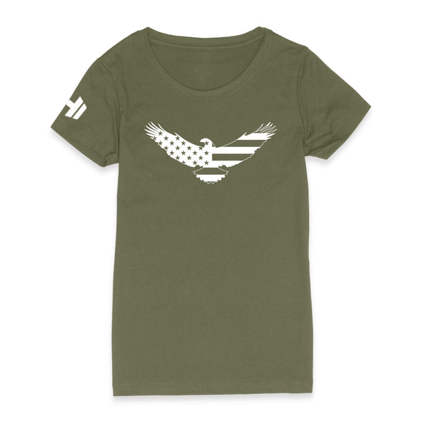 USA Flag Eagle Womens Apparel