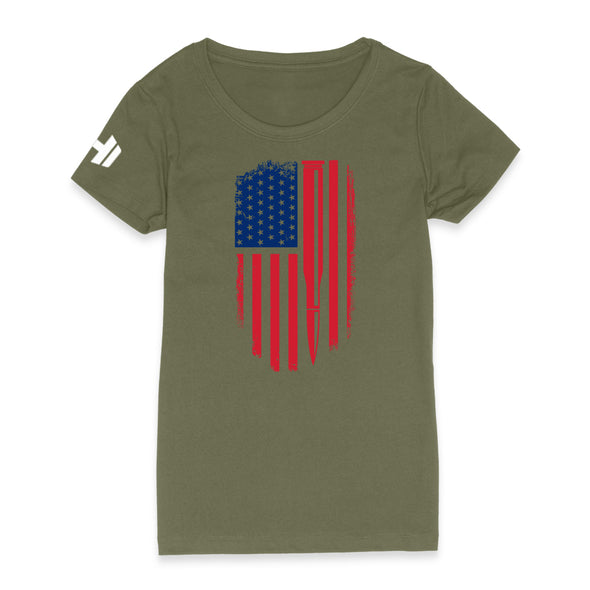 Color Bullet American Flag Womens Apparel