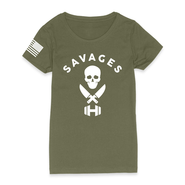 Savages With Dumbbells Womens Apparel