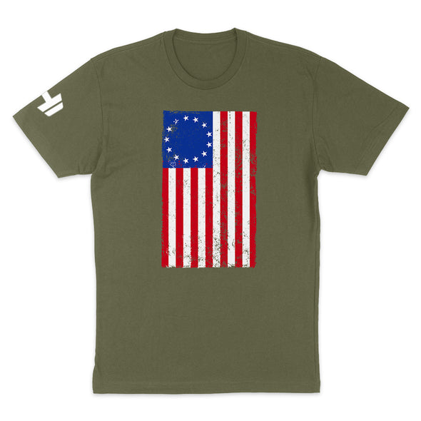 Betsy Ross Distressed Flag Mens Apparel