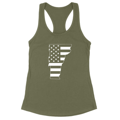 Vermont USA Flag Womens Apparel
