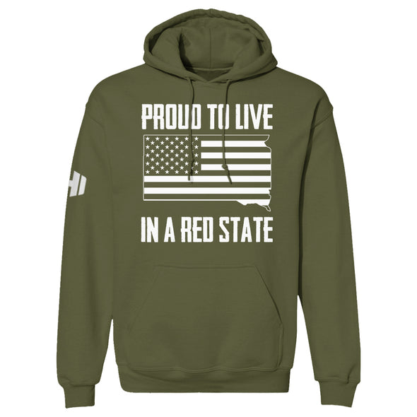Proud To Live In A Red State - South Dakota Hoodie
