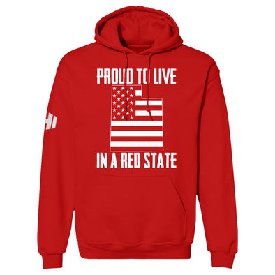 Proud To Live In A Red State - Utah Hoodie