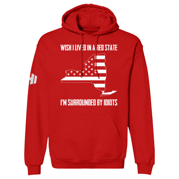 Wish I Lived In A Red State - New York Hoodie