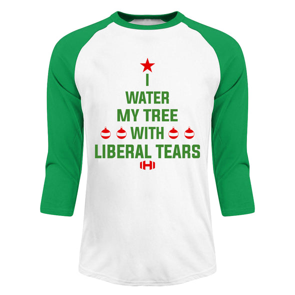 I Water My Tree Christmas Raglan