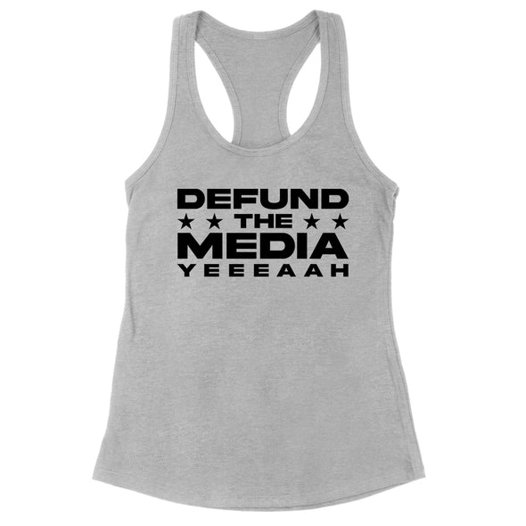 Defund The Media YEEEAAH Black Print Womens Apparel