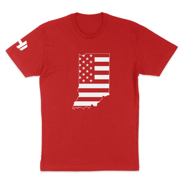 Indiana USA Flag Mens Apparel