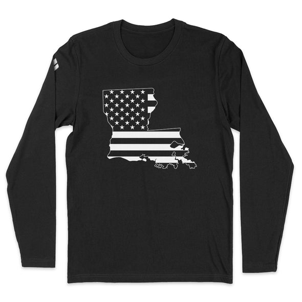 Louisiana USA Flag Mens Apparel