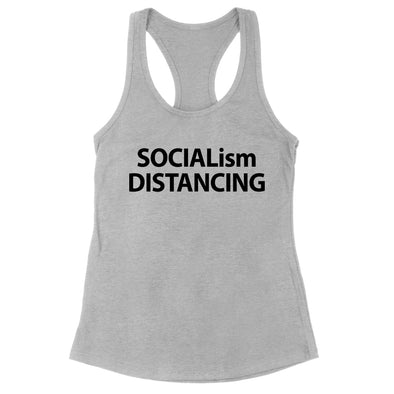 Socialism Distancing Black Print Womens Apparel