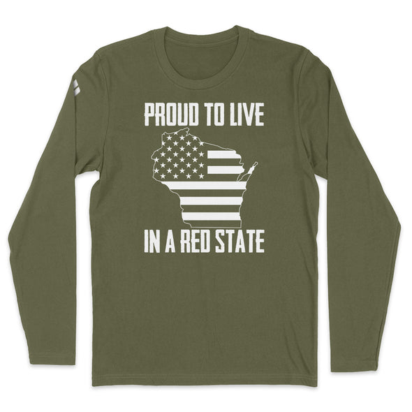 Proud To Live In A Red State - Wisconsin Mens Apparel
