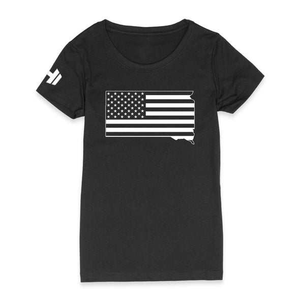 South Dakota USA Flag Womens Apparel